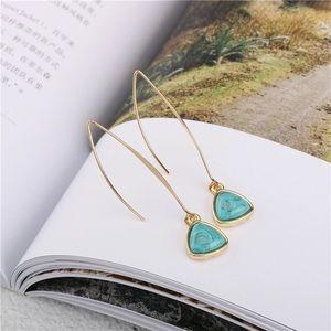 🆕 Turquoise Stone Drop Earrings